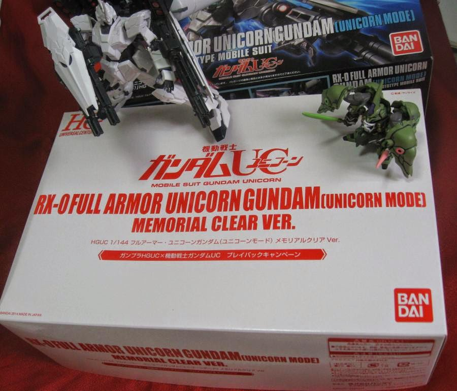 HGUC RX-0 FULL ARMOR UNICORN GUNDAM[UNICORN MODE] - Memorial Clear Ver.