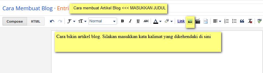Cara Membuat Artikel Di Blogspot