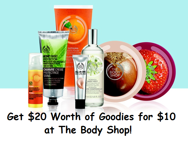 Get $20 Worth of Goodies at The Body Shop for $10!!!  WOW!!!!!