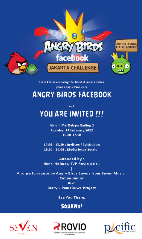 Angry Birds on Facebook 'Takeoff' in Jakarta
