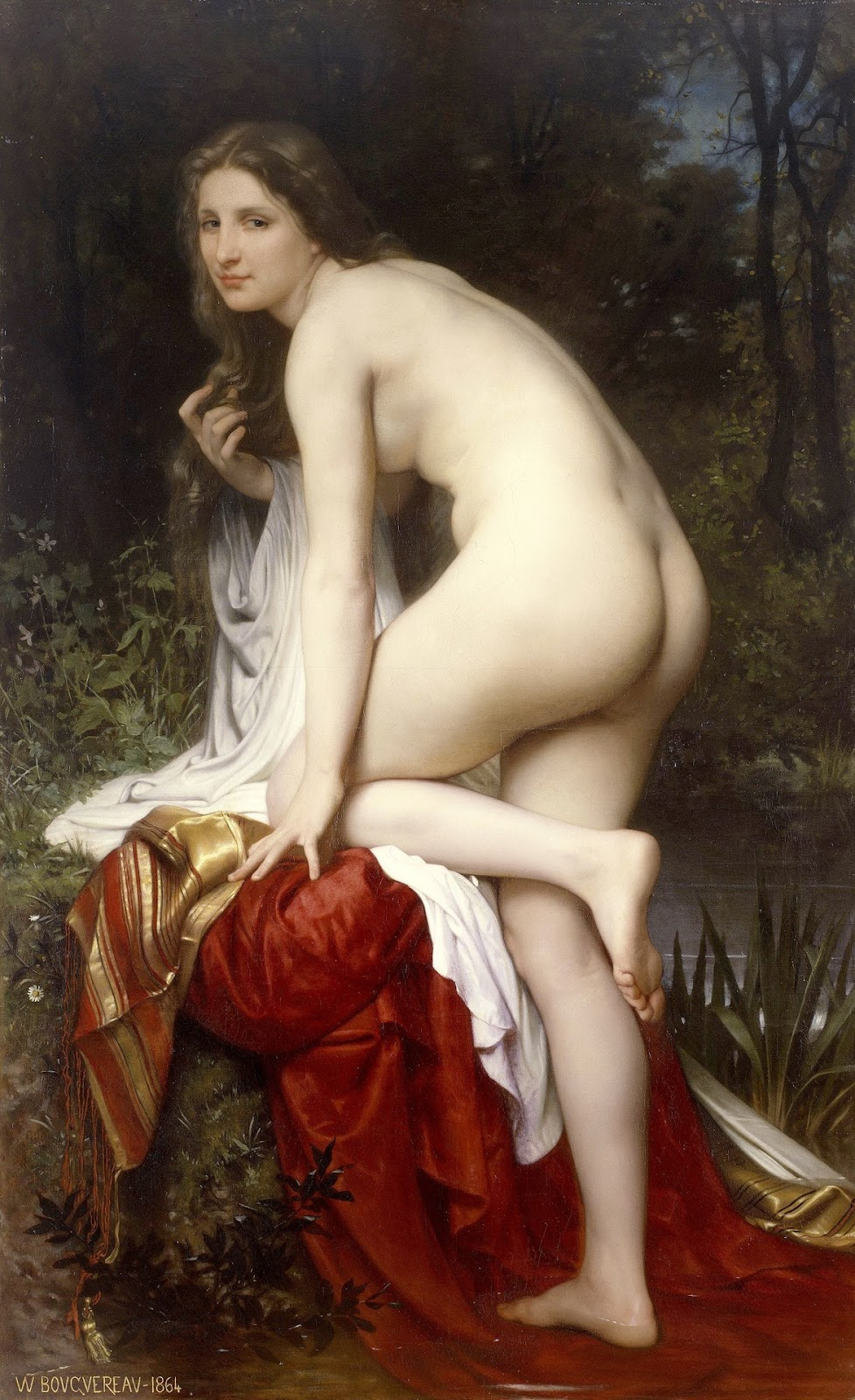 Woman Bathing. 1864. Óleo sobre tela - 166 х 103 см