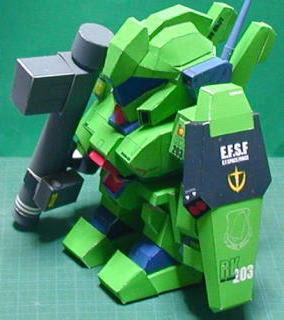 RGM-89 Jegan Gundam Papercraft