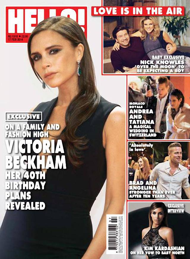 Victoria Beckham en Hello! Magazine