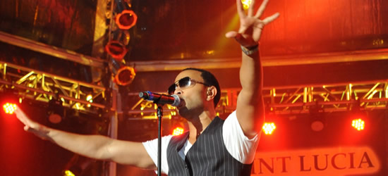 John Legend performing at the Saint Lucia Jazz Festival