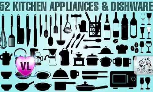 Kitchen appliances Shapes