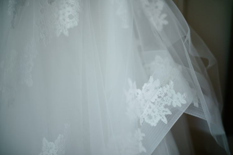 Monique Lhuillier wedding dress detail photograph