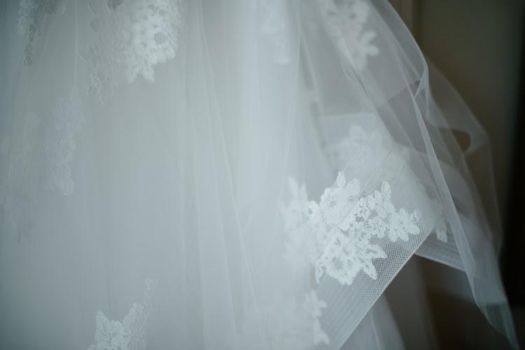Monique Lhuillier wedding dress detail photograph