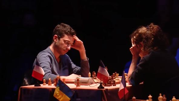Ronde 14 du Trophée d'échecs Karpov 2015: Marie Sebag s'offre le scalp de Laurent Fressinet mais ne poursuivra pas l'aventure en demi-finale - Photo © Capechecs