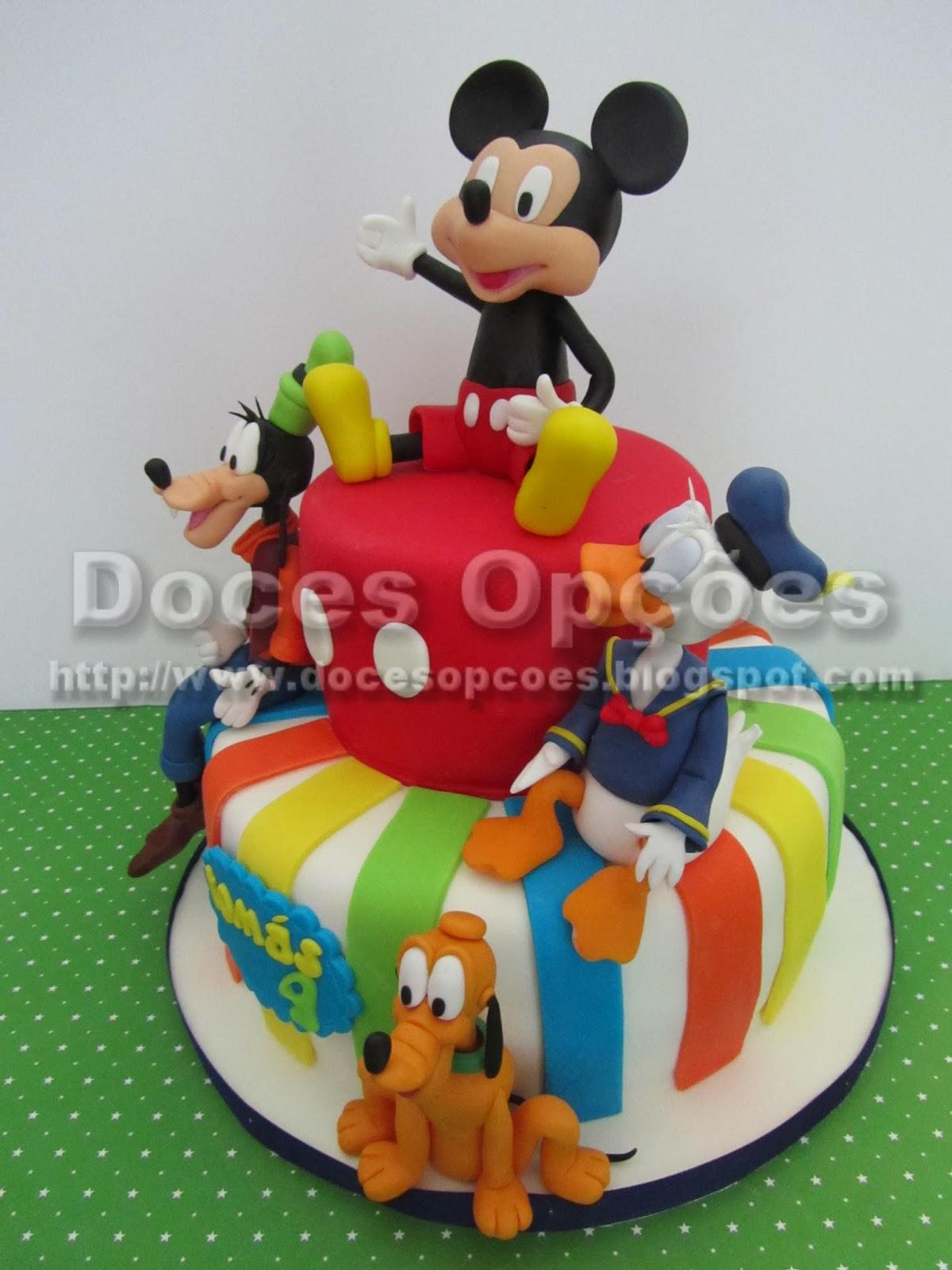 bolo aniversário do mickey e amigos