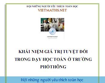 khai niem gia tri tuyet doi trong day hoc toan o pho thong