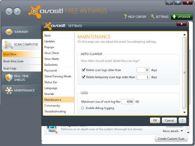 Avast! Free Antivirus 8.0.1483