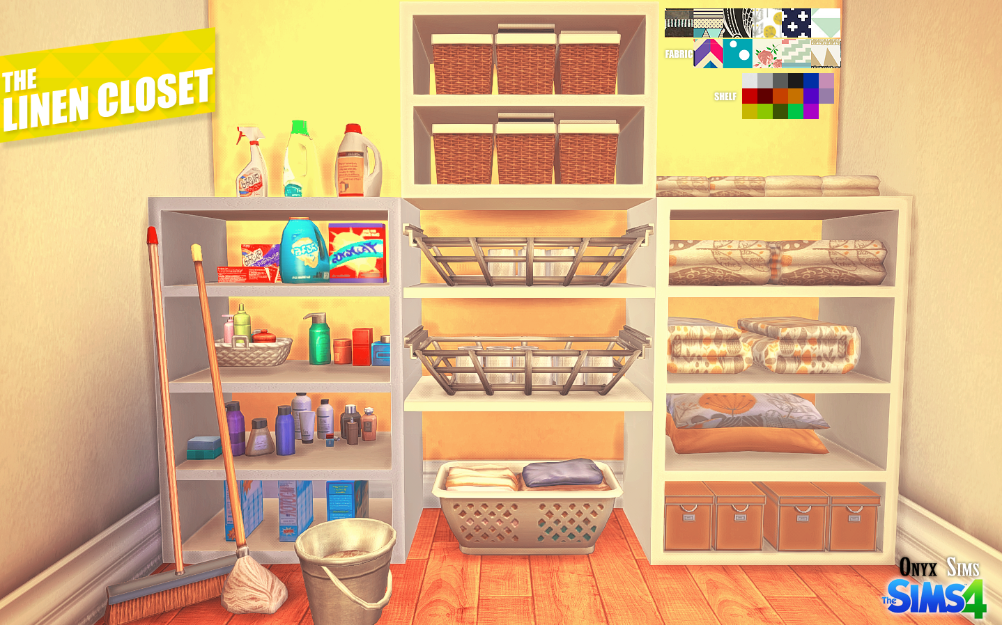 The Linen Closet Is A Set With Various Shelves And Decorative Items To Add  Some Realism To Your Sims Homes. Usually In The Linen Closet Youu0027d Store  Blankets ...