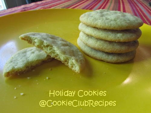 Lemon Sugar Cookies at CookieClubRecipes!