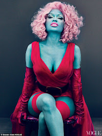 Nicki Minaj kind of blue for Vogue's eye-catching photo shoot