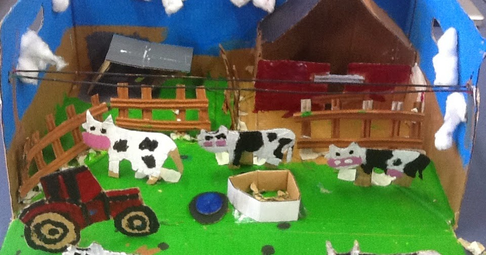 how to make farm model for school project