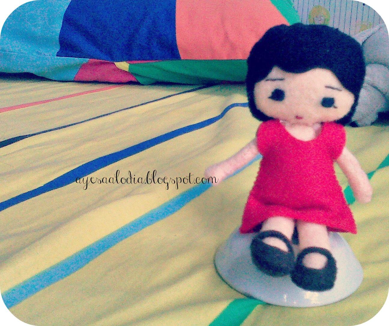 Boneka flanel selesai :)