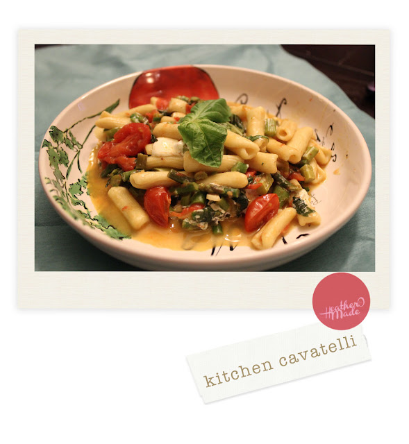 veggie + pasta dinner