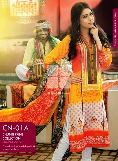 Gul Ahmed lawn summer eid collection 2015