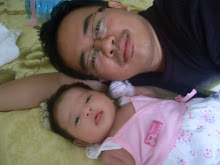 my lovely hubby n daughter