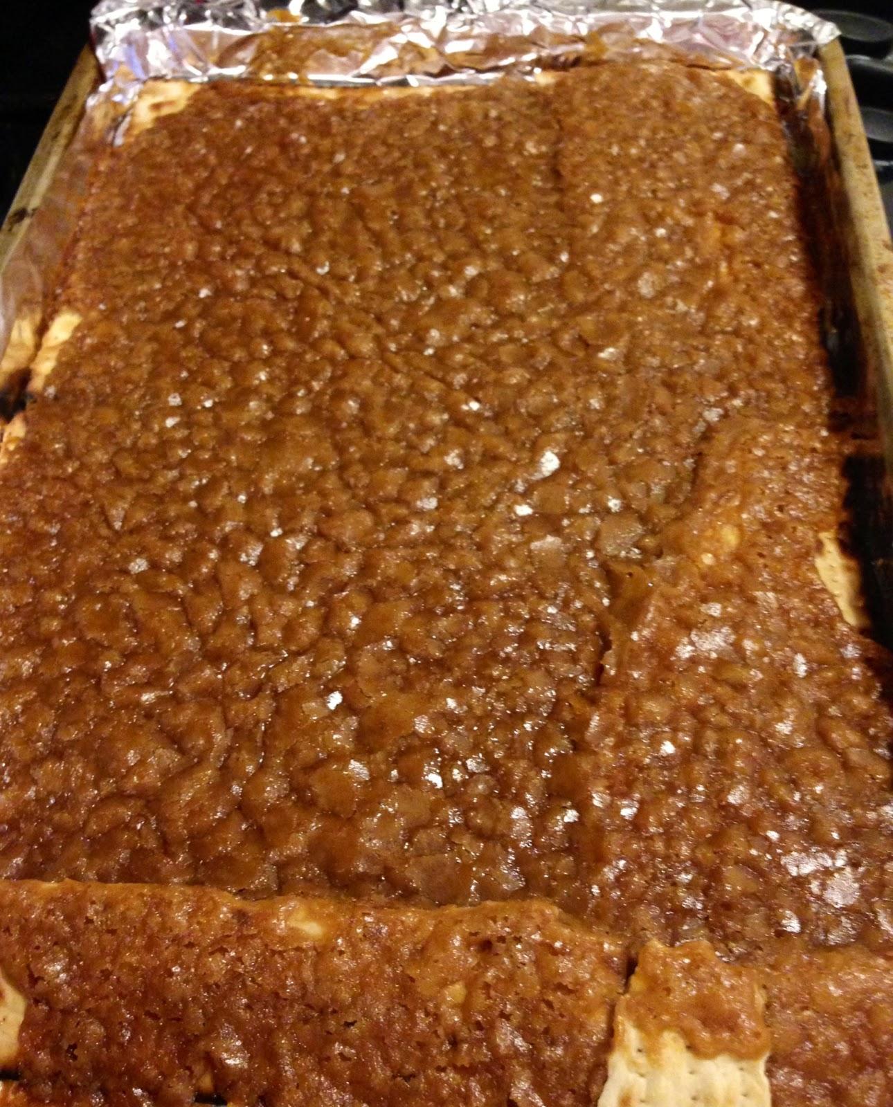 Matzoh Crunch aka Matzoh Crack aka Chocolate & Caramel Covered Matzoh ...