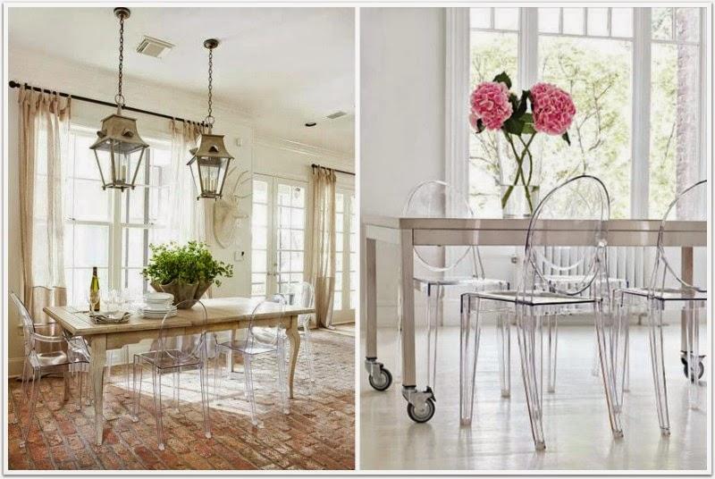 En casa de oly alivia y moderniza tu comedor con philippe for Sillas cocina transparentes