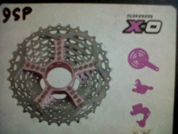 Sprocket Sram X0 PG-990 9speed Pink