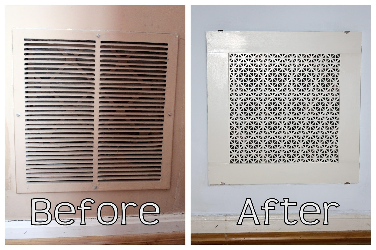Air Return Registers Grilles : Homevolution diy return air grille that s actually pretty