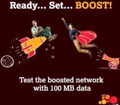 Get free 100 mb 3G data for Tata DoCoMo