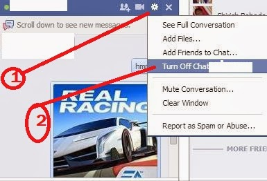 facebook chat tricks for turn off
