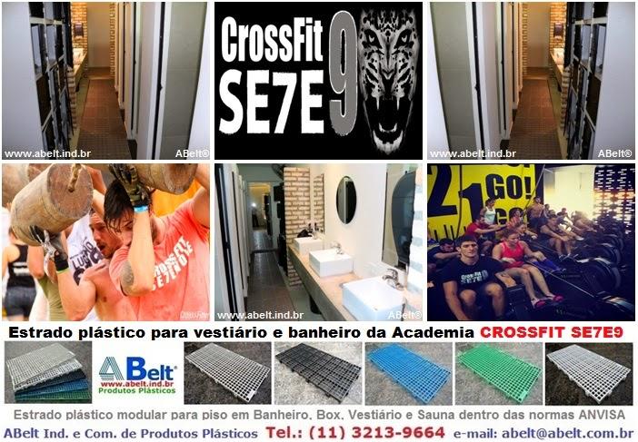 Estrado plástico para academia CrossFit 79 Pinheiros em São Paulo