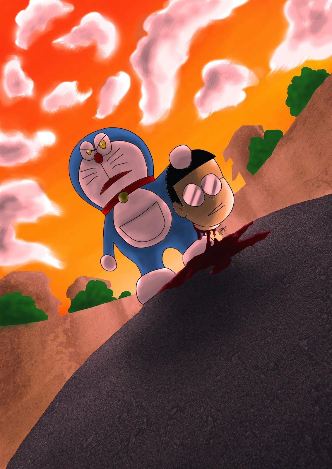 doraemon,nobita,killed
