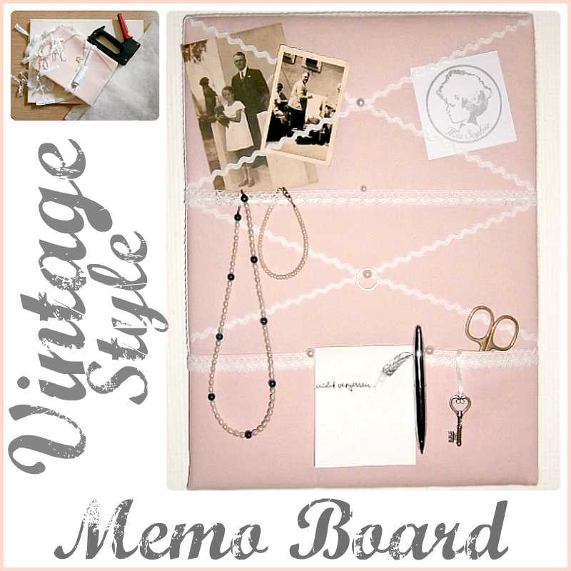 Vintage Style Memo Board