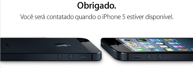 Mensagem de cadastro - iPhone 5