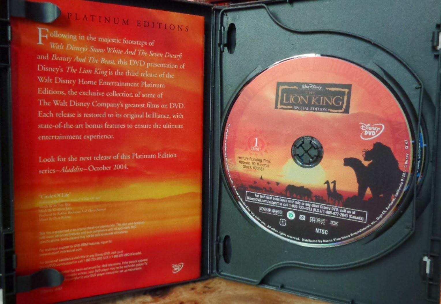 Lion king platinum edition dvd