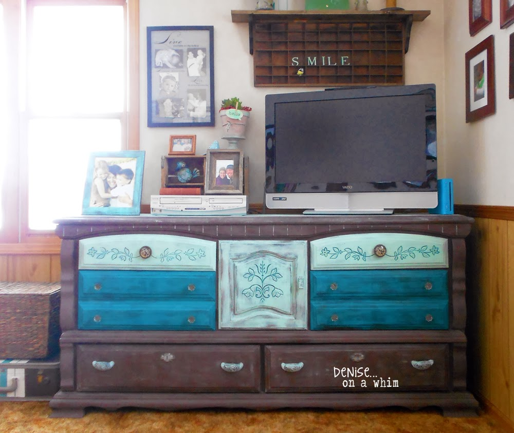 Dresser Makeover via http://deniseonawhim.blogspot.com