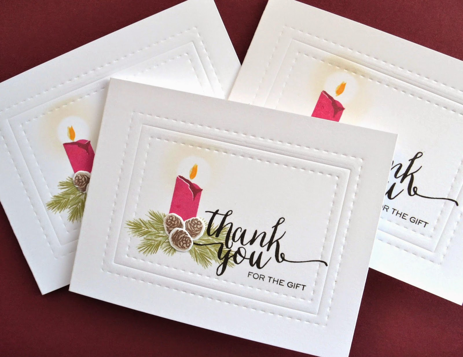 Stamp away with me holiday thank you cards kara here and i love to send christmas thank you cards especially to those i cant hug and thank in person like my nephews my brother and my aunt m4hsunfo
