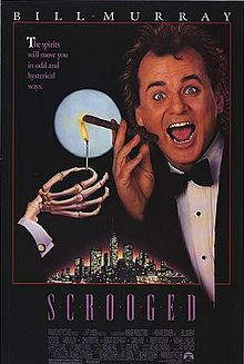 Film poster Scrooged 1988 movieloversreviews.blogspot.com