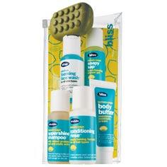 Bliss, Bliss Sinkside Six-Pack, Bliss Lemon + Sage Body Butter, Bliss Lemon + Sage Soapy Sap, Bliss Lemon + Sage Supershine Shampoo