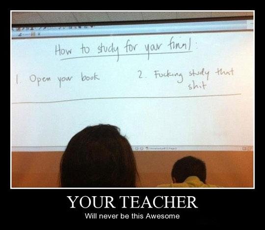 Funny Teacher Blackboard Finals