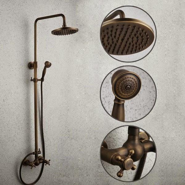 antique brass tub shower faucet hand shower