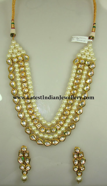 Royal Pearls and Kundan Haram