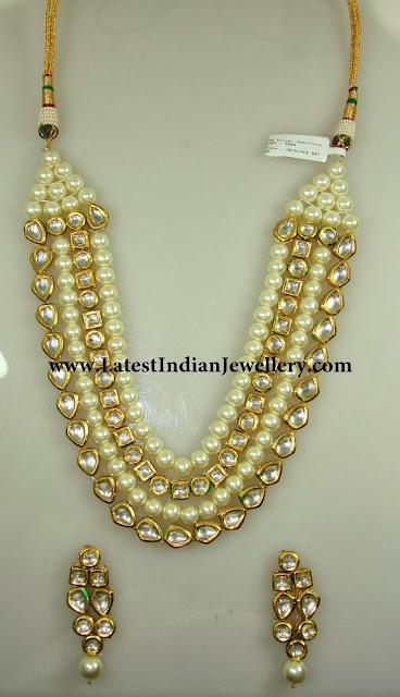 Royal Pearls and Kundan Haram