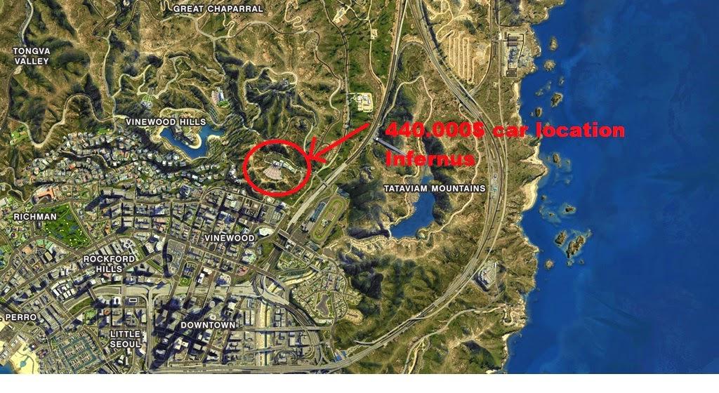 Gta Five V Secret Car Locations Gta Bear