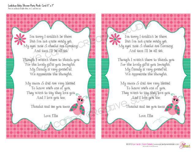 cards from baby, sorry I couldn't be there, baby cards for baby shower