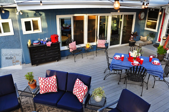 Beautiful covered patio :: OrganizingMadeFun.com