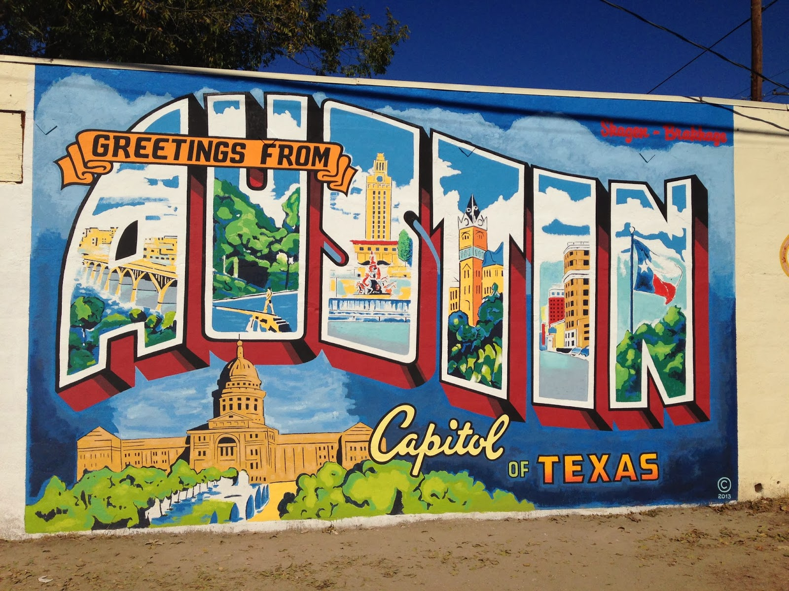21 best instagram locations in austin texas longhorn humor for Austin mural wall