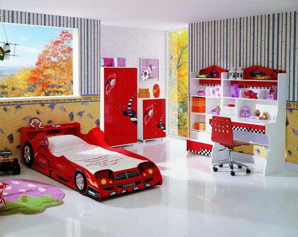 Desain interior kamar tidur anak terbaru