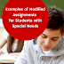 Examples of Modified Assignments for Students with Special Needs