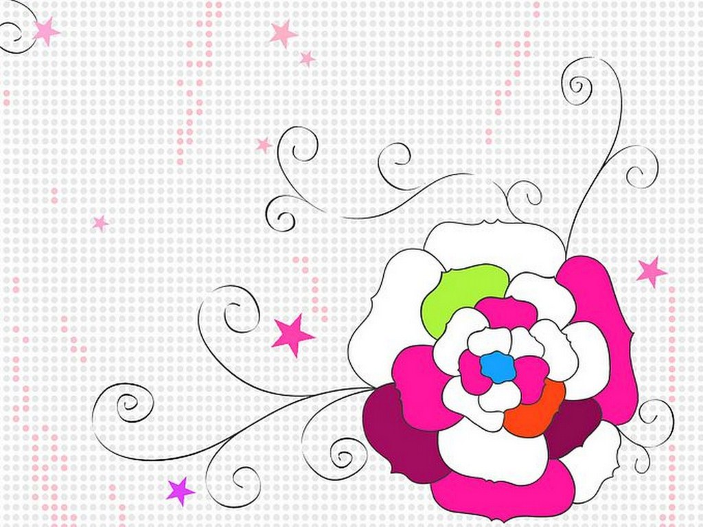 Dibujos de flores facil - Imagui