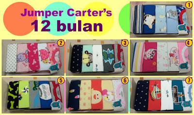 Jumper Carter's Jumpsuit harga murah, grosir ecer, baju kodok merk Carter jumpers, pakaian bayi 12 bulan bayi cowok dan cewek